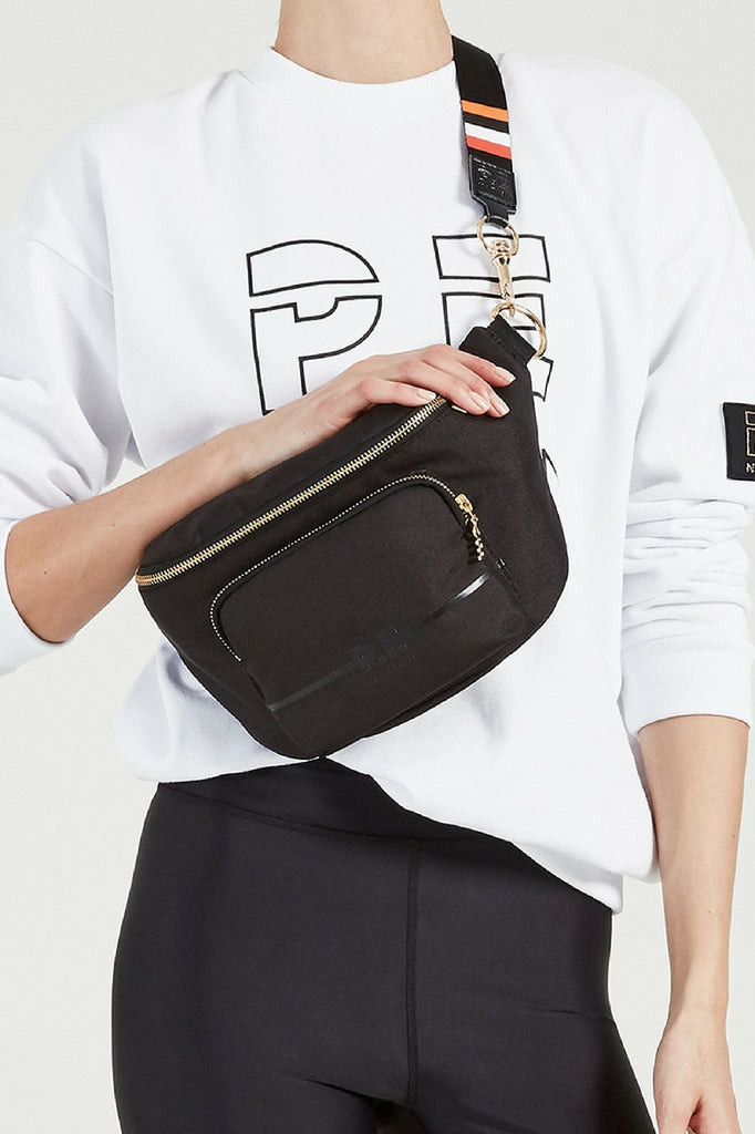 P.E Nation Lay Back Bumbag in Black mve boutique