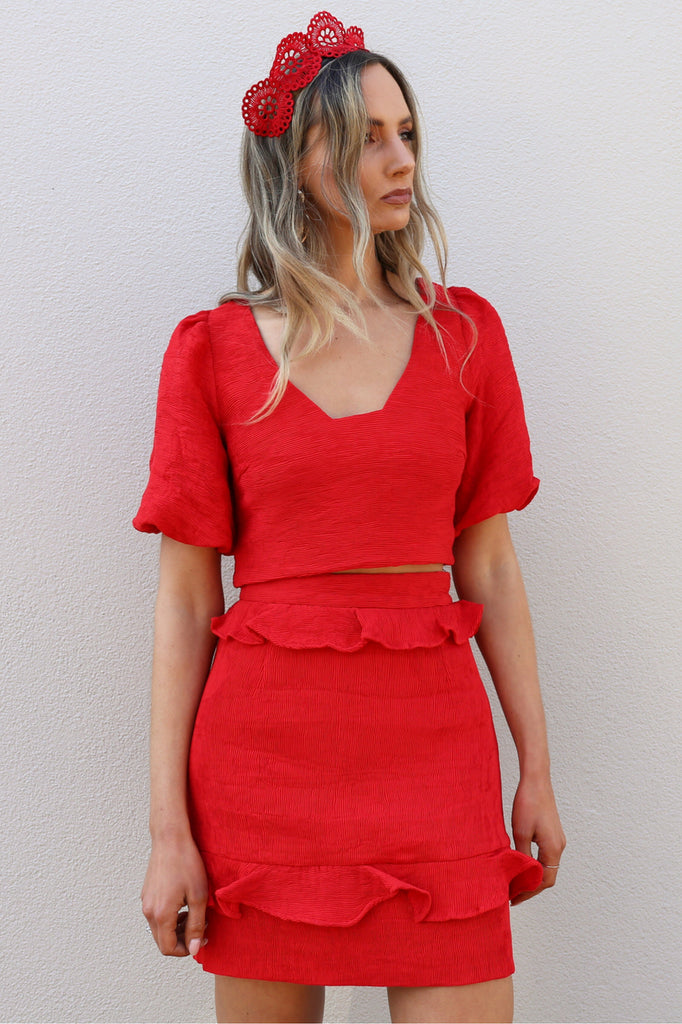 Elliatt Collective Felice red Top MVE Boutique