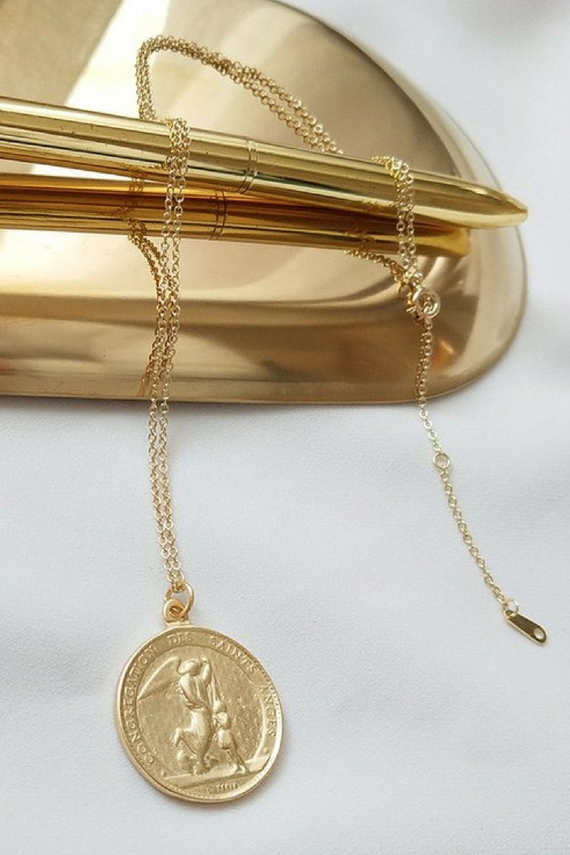 Kitsense - Angel Gold Coin Necklace