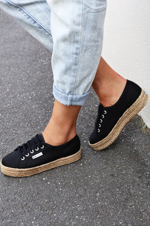 Superga 2730 Cotrope - Black mve boutique