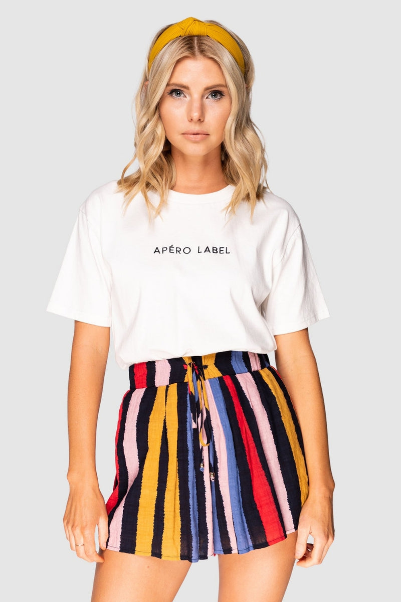 Apero The Label Embroidered Tee - White