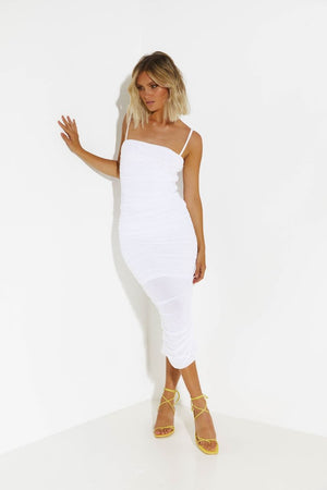 Simone dress - white
