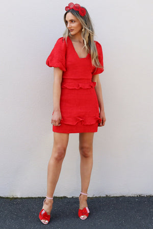 Elliatt Collective Felice red Skirt MVE Boutique