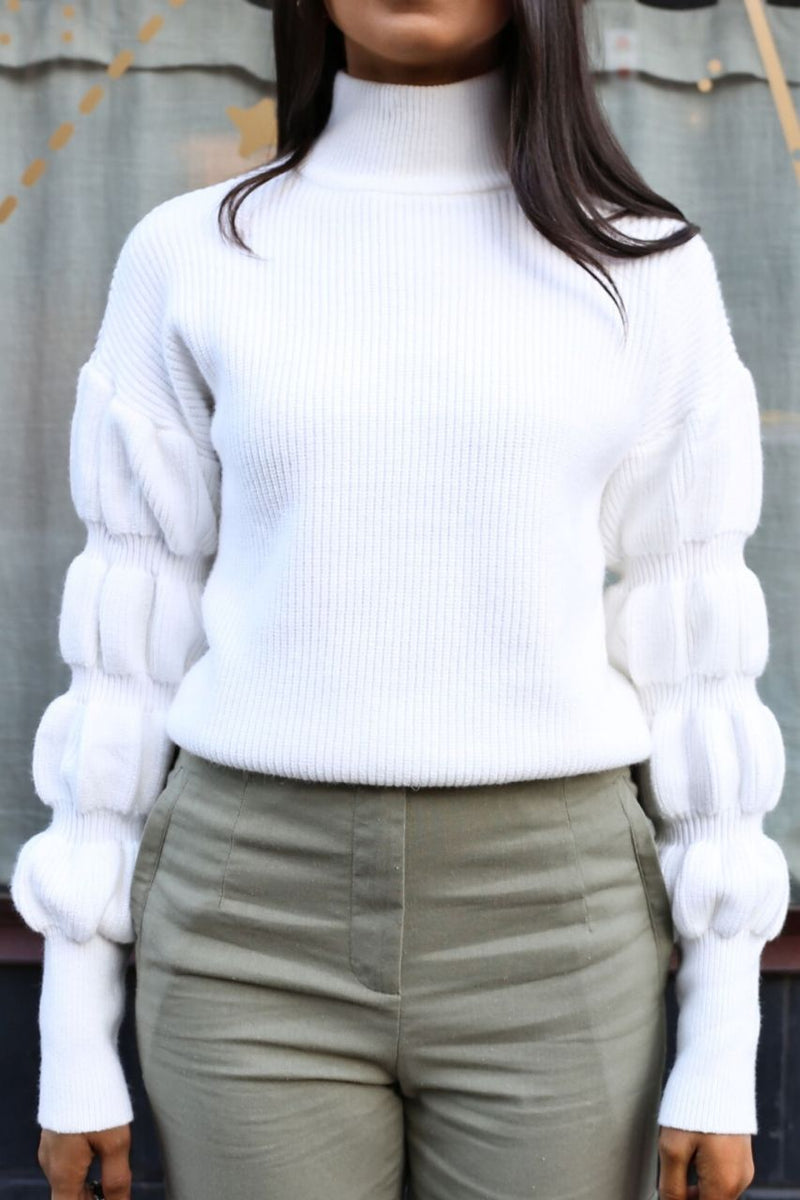 Freya Knit - White
