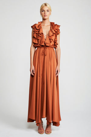 Solar ruffle maxi dress Shona Joy MVE boutique