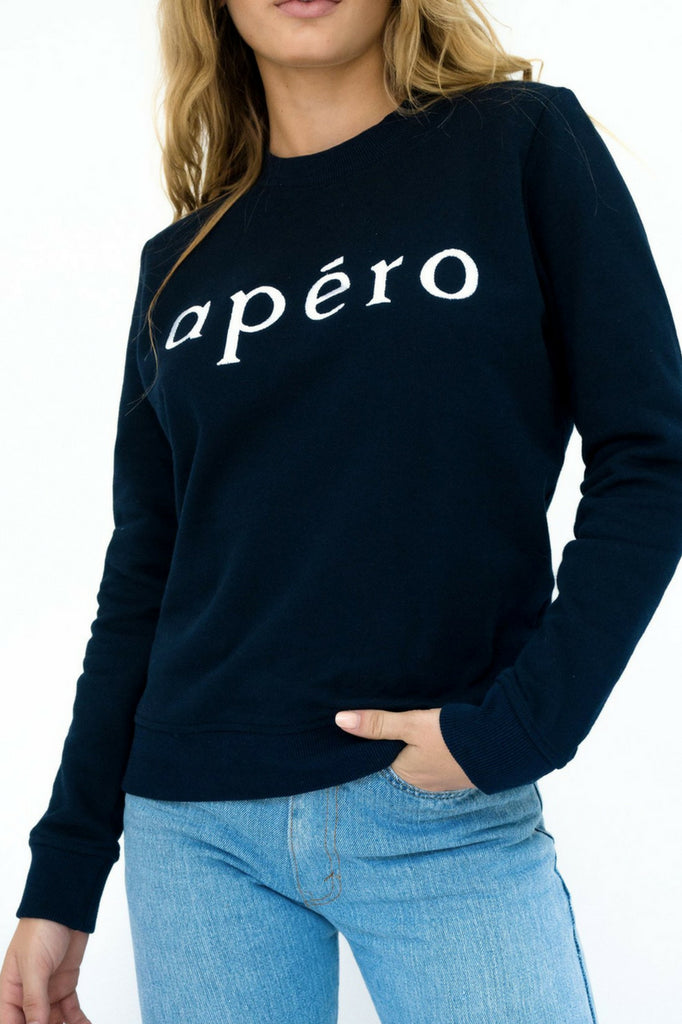 Apéro Embroidered Jumper – Navy