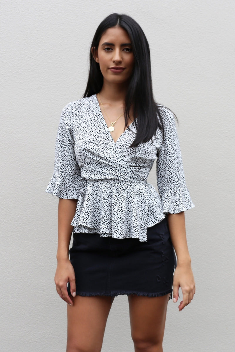 Melorie Wrap Top