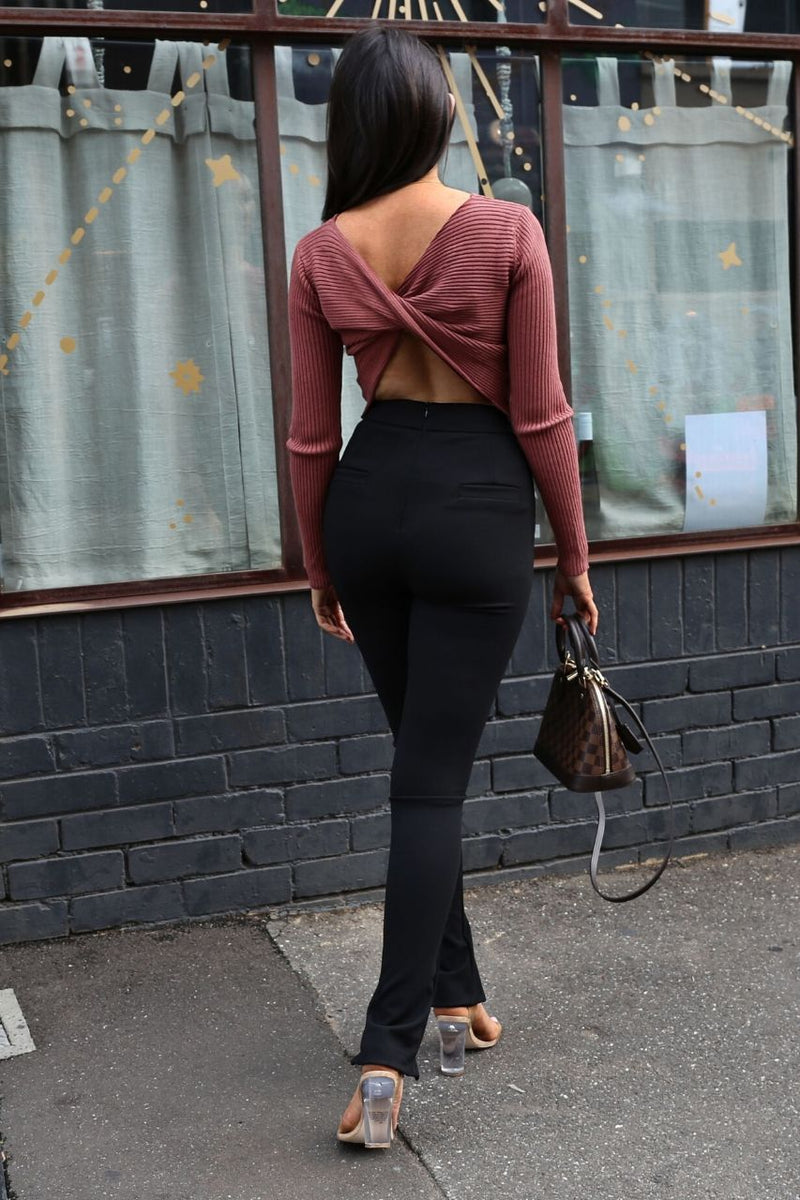 Desi crop top- Brick