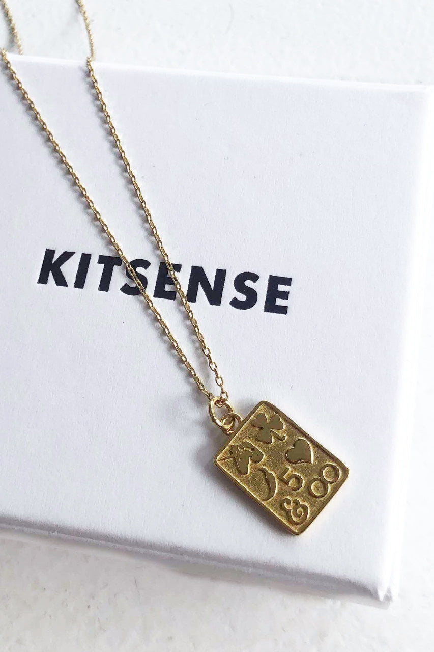Kitsense card pendant Necklace mve boutique
