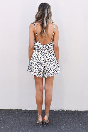 Luca leopard Playsuit mve boutique