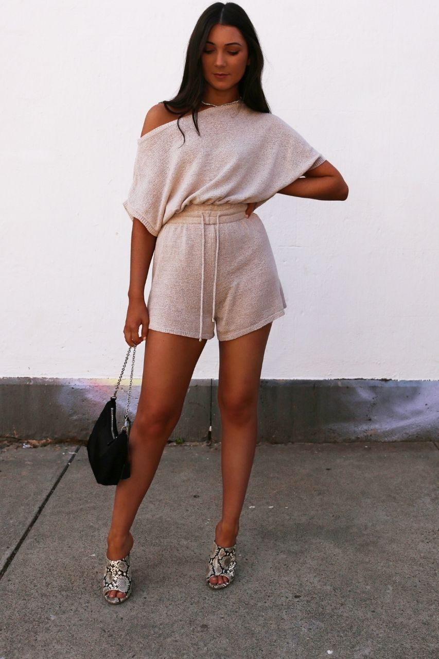 Izzy knit playsuit