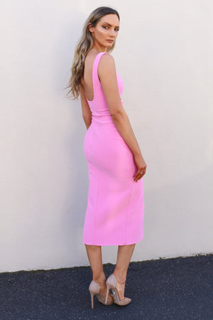 Bec & Bridge Marguax Mouth Dress bec and bridge pink dress pink tight dress mve boutique