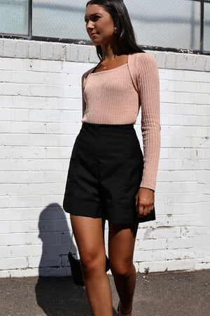 Colette Ribbed Knit Top