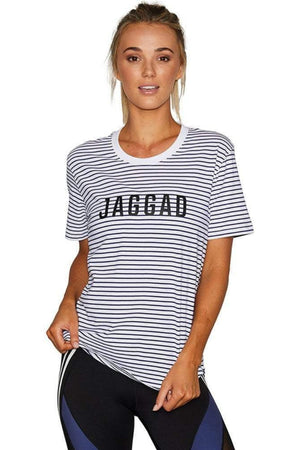 Jaggad Offside Striped Classic Tee