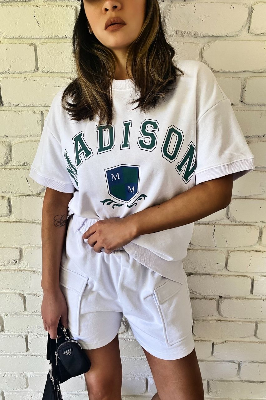 College Sweater Tee by Madison the Label maxwell shorts madison the label