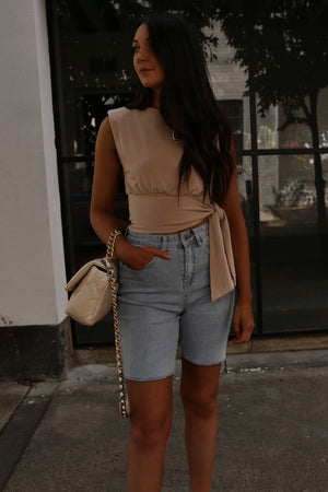 Emery shorts - Blue denim