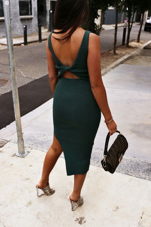 Celine Dress - Emerald