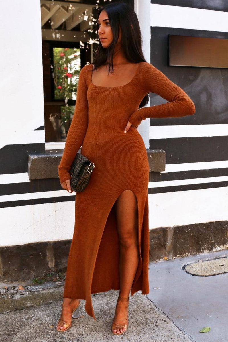 Marc knit dress - Burnt Orange