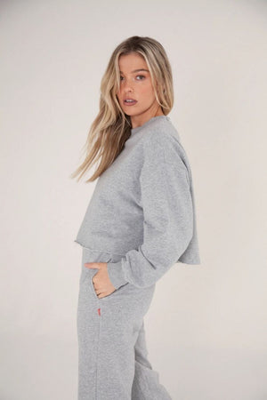 Bayse High Waisted Pants - Grey Marle