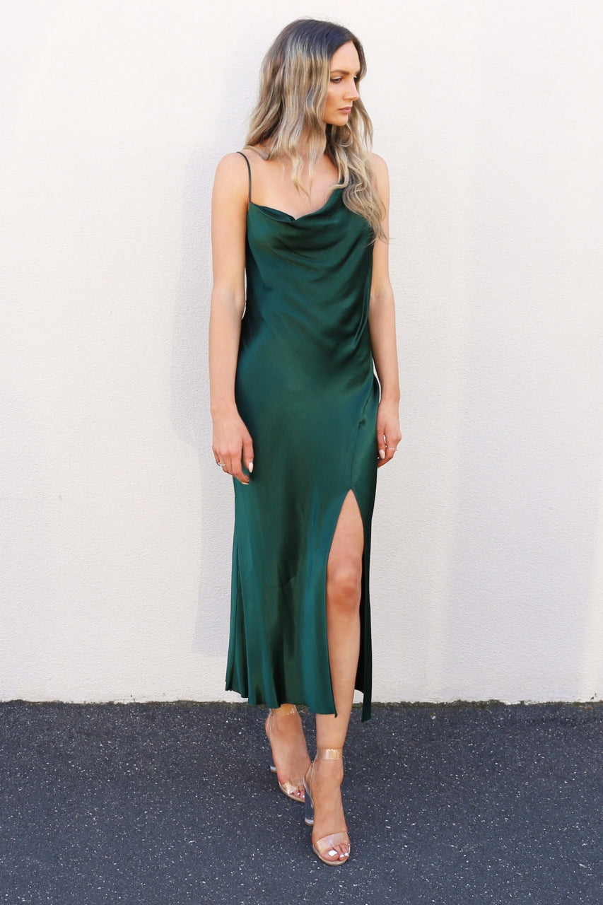 Bec & Bridge Martini Club Split Dress green dress backless dress bec and bridge mve boutique