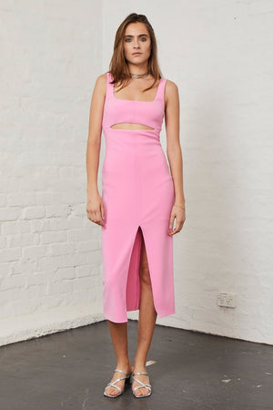 Bec & Bridge Marguax Mouth Dress bec and bridge pink dress pink tight dress