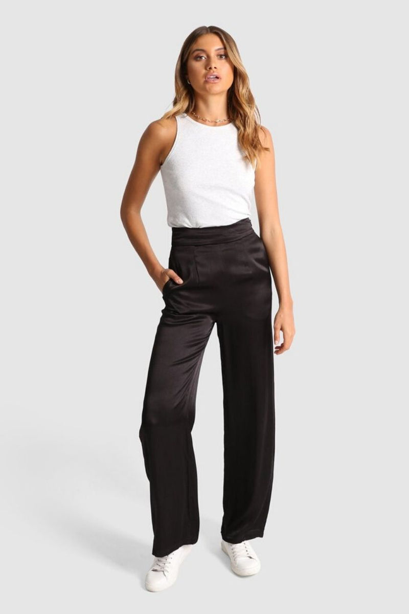 Elsie Satin Pants madison the label