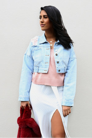 Runaway New York Cropped Denim Jacket