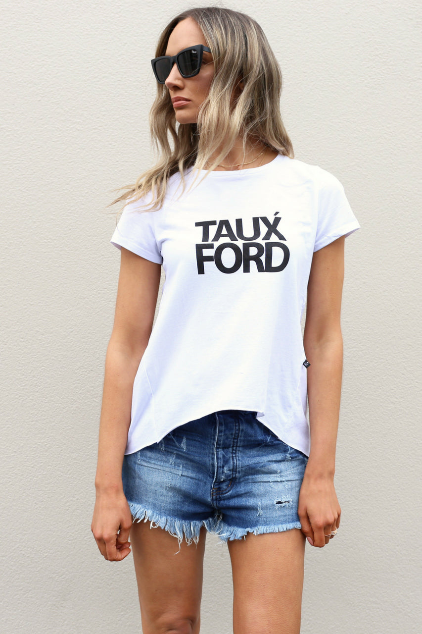 white tshirt slogan tee short sleeve mve boutique