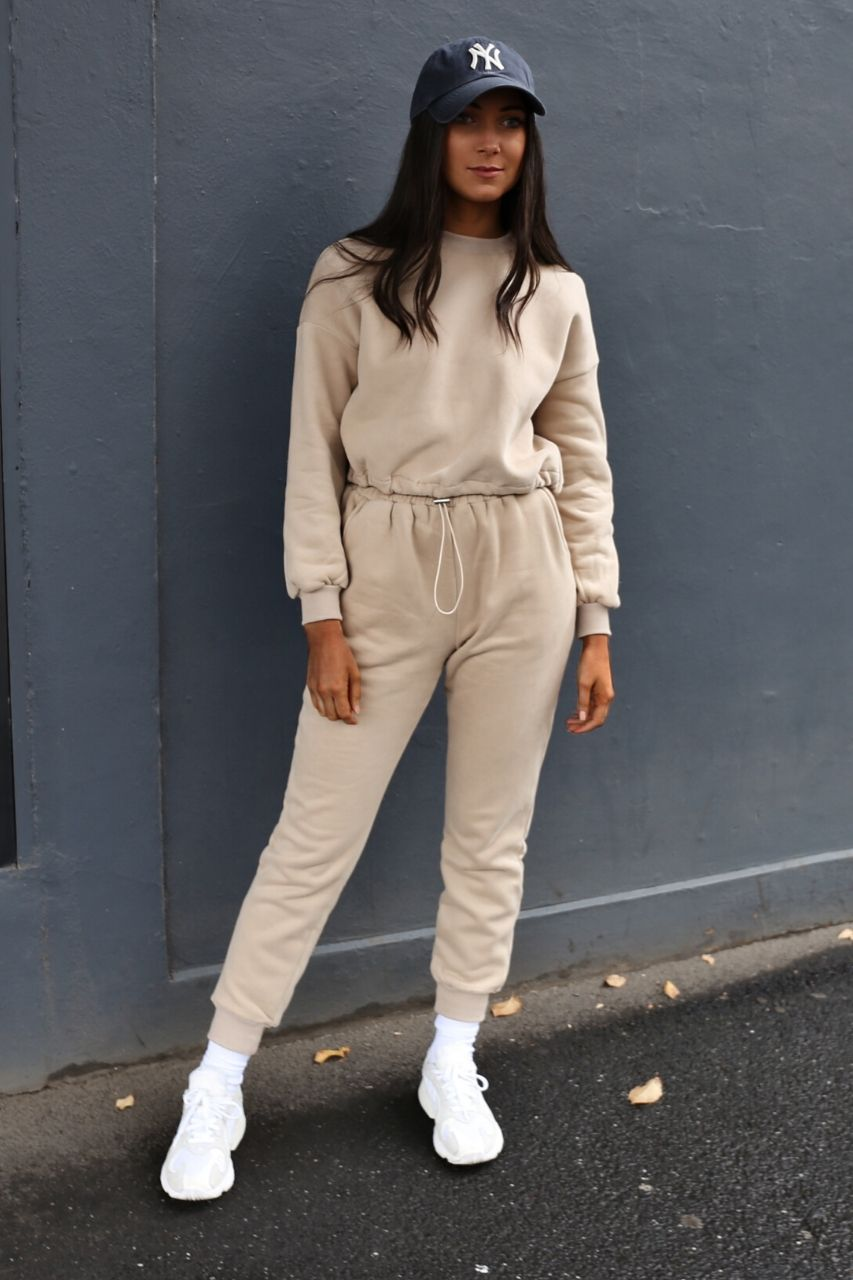 Brooke trackpant- Light Camel