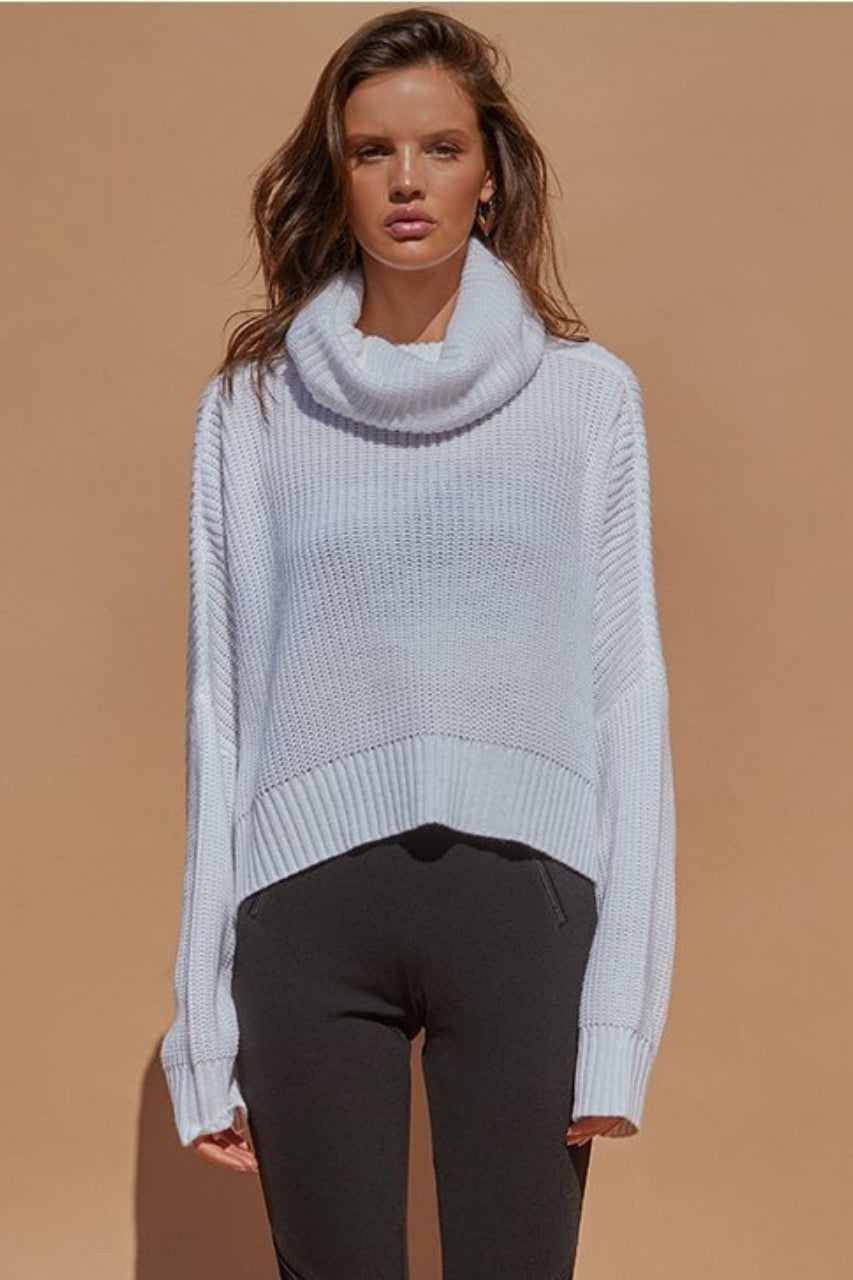 Venus crop sweater knit