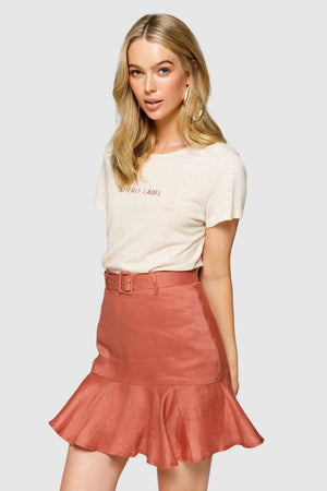Apero The Label Embroidered Tee - Cream