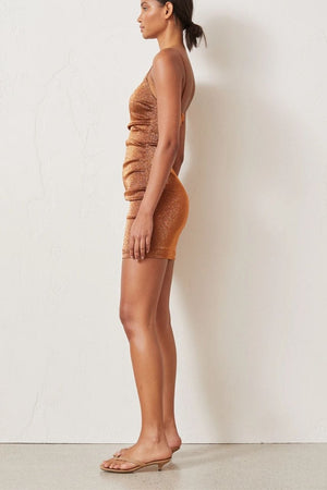 Bec & Bridge Bronze Baby Mini Dress