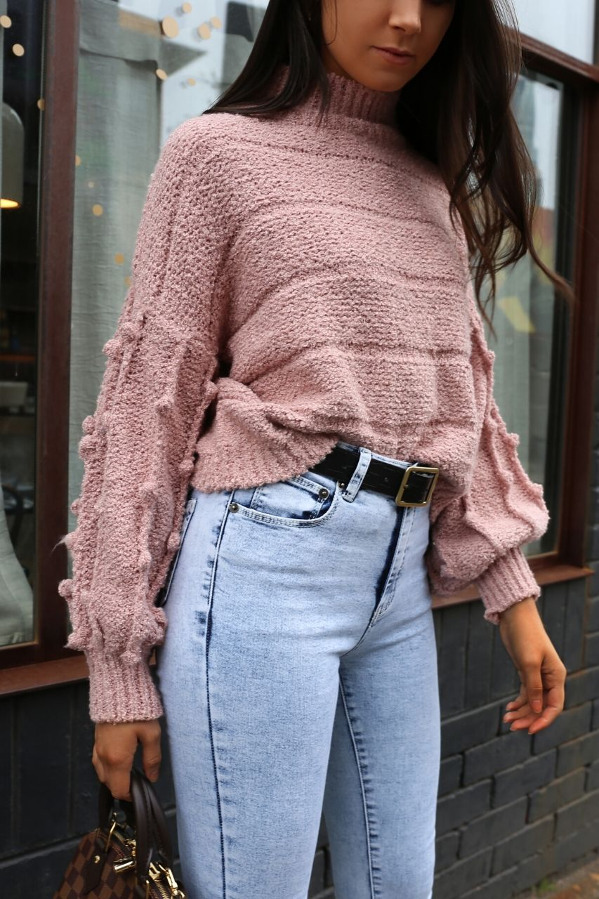 soft pink blush knit