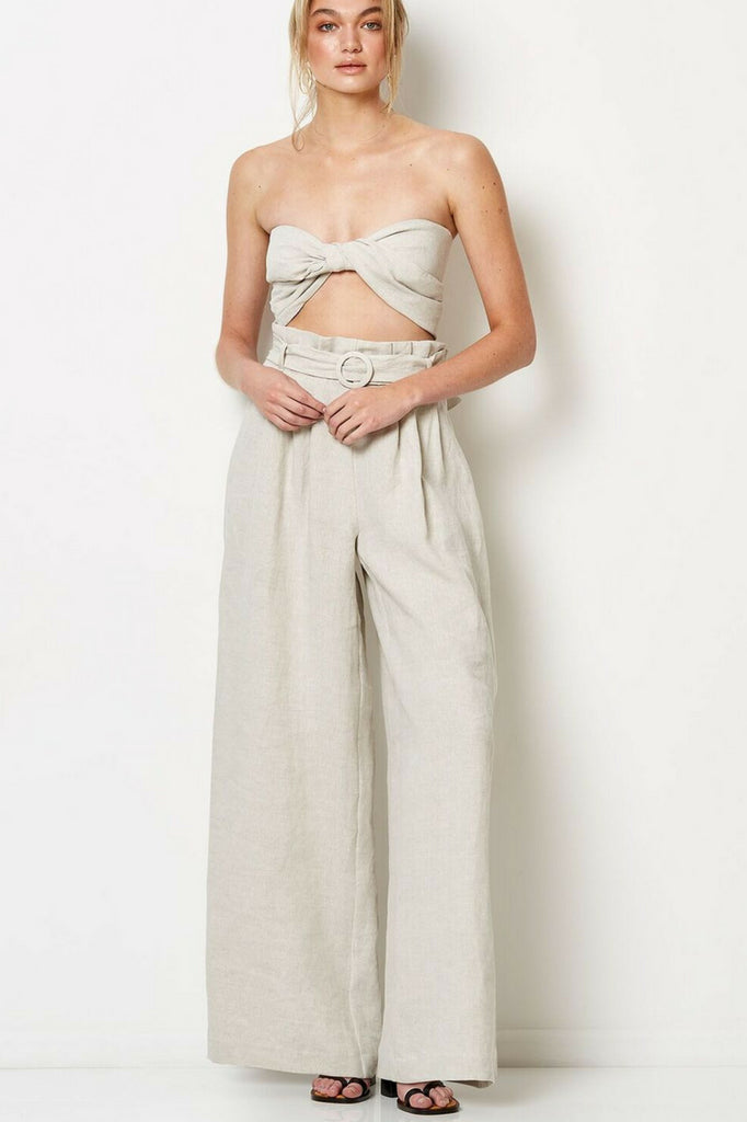 Bec & Bridge Silver Palms Tie Top MVE Boutique