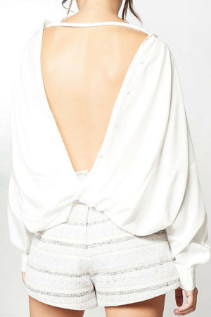PS The Label Wildfire Reversible Twist Shirt MVE Boutique