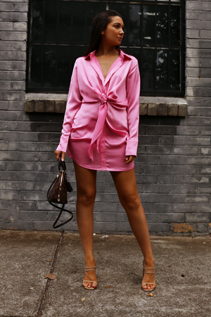 Ruby shirt Dress- Bubblegum