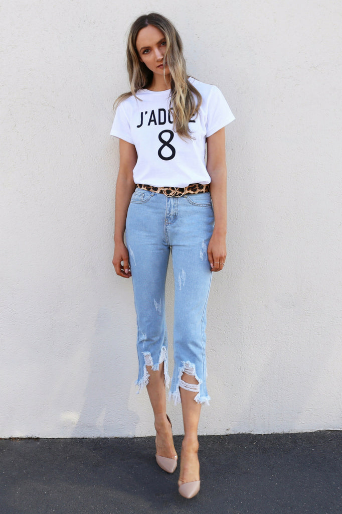Runaway J'Adore 8 tee White mve boutique