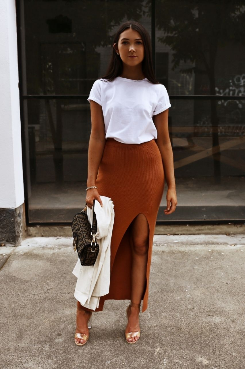 Magaly Skirt - Copper