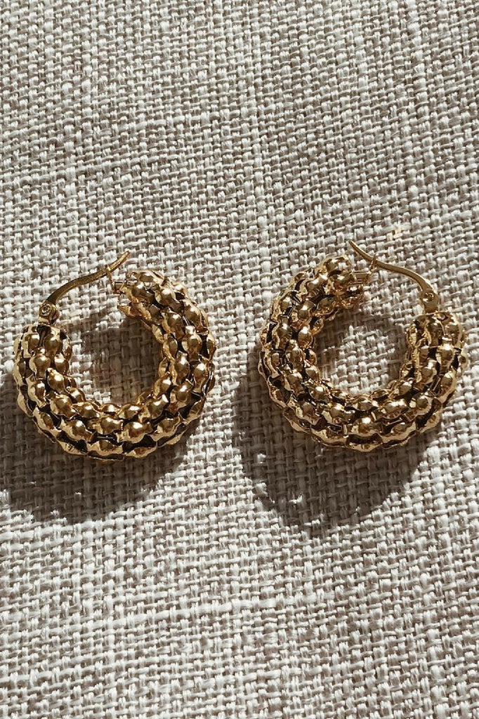 Kitsense Florence Pebble Hoops MVE Boutique