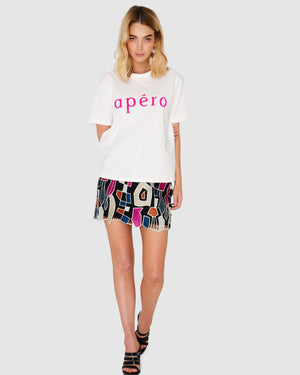 Apéro Beaded Tee hot pink mve