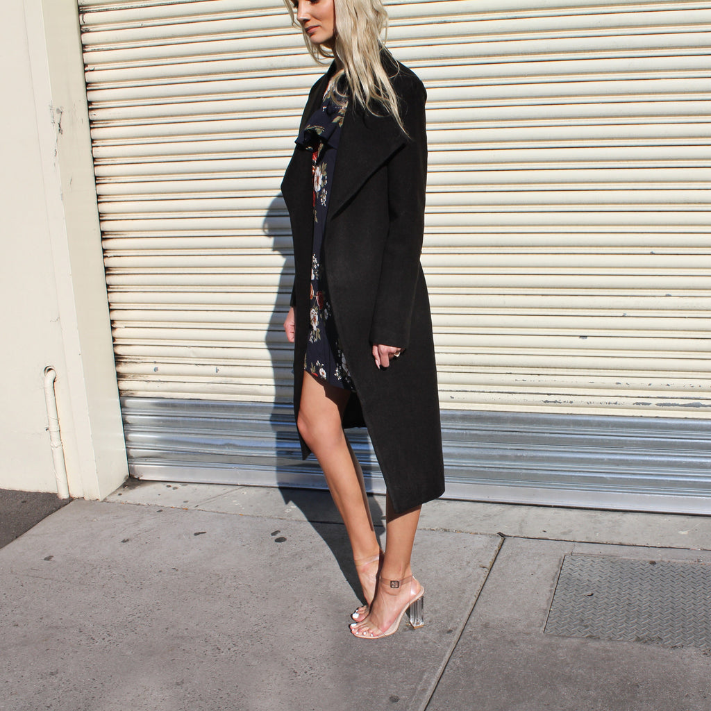 The Goodbye Girl Coat - Black
