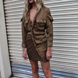 Tangles in Trenches Dress