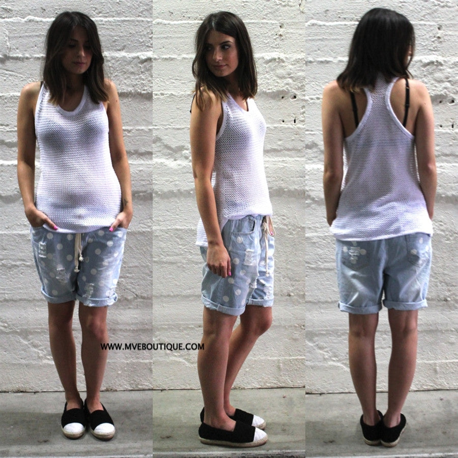 Imonni The Label - HEY HEY KNIT SINGLET - Tops - M.VE BOUTIQUE
