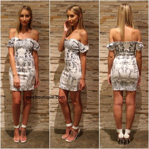 Incyda The Label - BOW SHOULDER DRESS - Dresses - M.VE BOUTIQUE