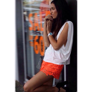 May The Label - DAISY LACE SHORTS - Shorts - M.VE BOUTIQUE
