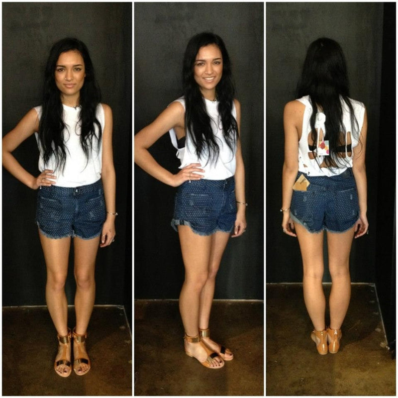 One Teaspoon - SAILORS DENIM SHORTS - Shorts - M.VE BOUTIQUE
