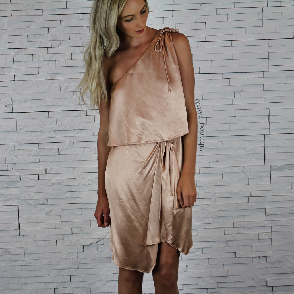 DAHLIA ASYMMETRICAL DRESS