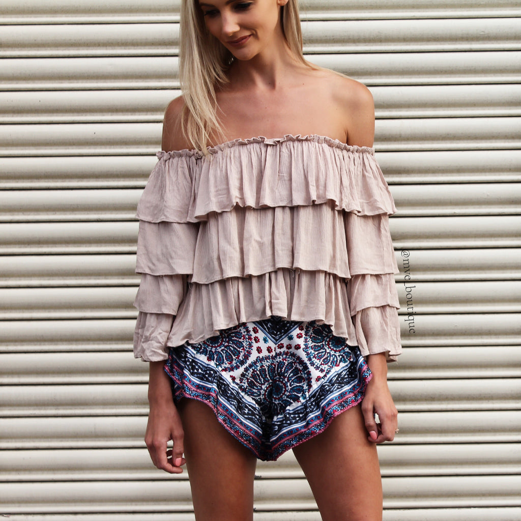 DEDICATED OFF THE SHOULDER TOP