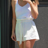 Hello New - SENORITA WHITE KNIT - Crop Tops - M.VE BOUTIQUE - 2