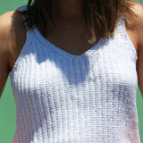 Hello New - SENORITA WHITE KNIT - Crop Tops - M.VE BOUTIQUE - 4